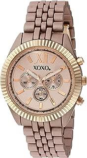 XOXO Womens Quartz Watch, Analog Display and Gold Plated Strap XO251