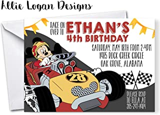 Mickey and the Roadster Racers - Inspired Birthday Invitation