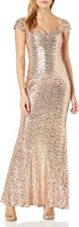 Women's Off The Shoulder Stretch Sequin Gown