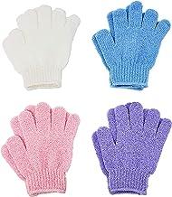 ATB 4 Pairs Exfoliating Gloves - Premium Scrub Wash Mitt for Bath or Shower - Luxury Spa Exfoliation Accessories For Men a...