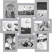 إطار صور ملصقة للحائط 4×6 ألغاز من مالدن إنترناشيونال ديزاينز، باللون الرمادي