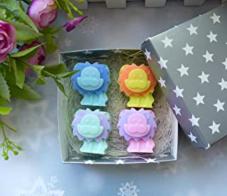 Soap set of 4 small lions - for baby