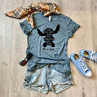 Large/Heather Slate/Lilo & Stitch Disney Trip Shirt/Disney Inspired Shirt/Love Ohana/Screen Printed With Eco Friendly Ink//