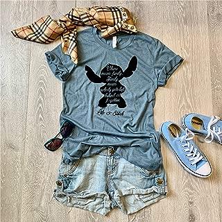 Medium/Heather Slate/Lilo & Stitch Disney Trip Shirt/Disney Inspired Shirt/Love Ohana/Screen Printed With Eco Friendly Ink//