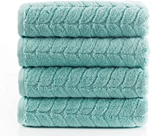 Bagno Milano Jacquard-Woven Towels – Ultra-Absorbent & Fast-Drying Spa Towels – Non-GMO Turkish Cotton Towels – Durable & Plush Luxury Towels – Eco-Friendly Towels – Soft Spa Towel Bundle- Mint 4 Pcs