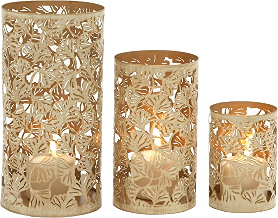 Deco 79 33302 Candle Holder Gold