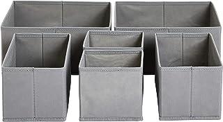 Amazon Basics Organiseurs de tiroir en tissu, Lot de 6