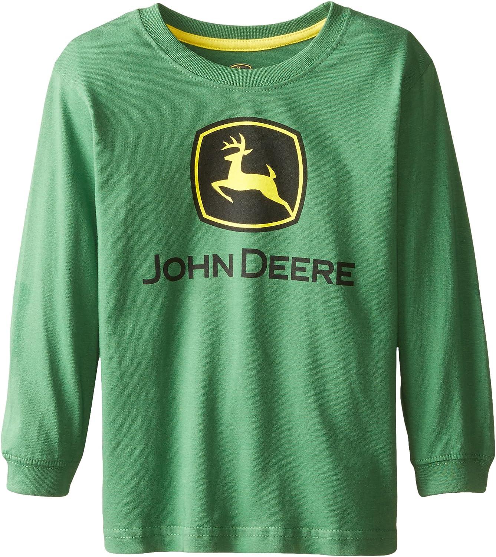 John Deere Little Boys' Long Sleeve Trademark Tee Green Child