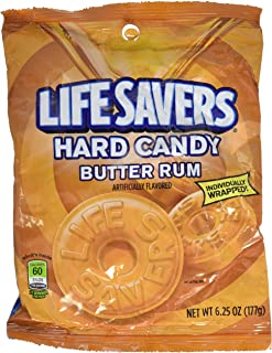 Life Savers, Butter Rum Hard Candy, 6.25oz Bag (Pack of 6)