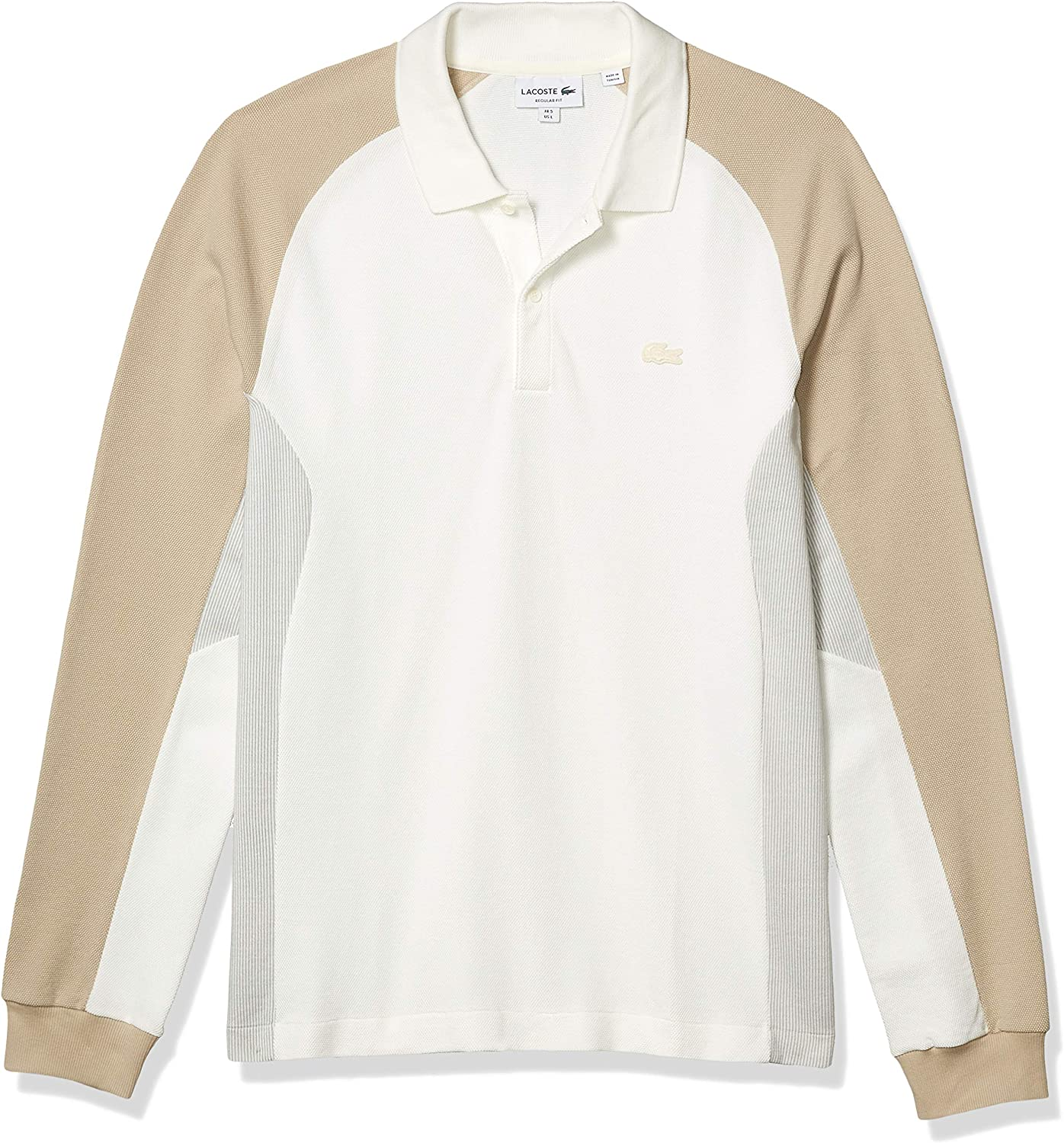 Lacoste Men's Long Sleeve Motion Quick Dry Colorblock Polo Shirt