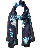 Calvin Klein - Floral Border Silk Scarf