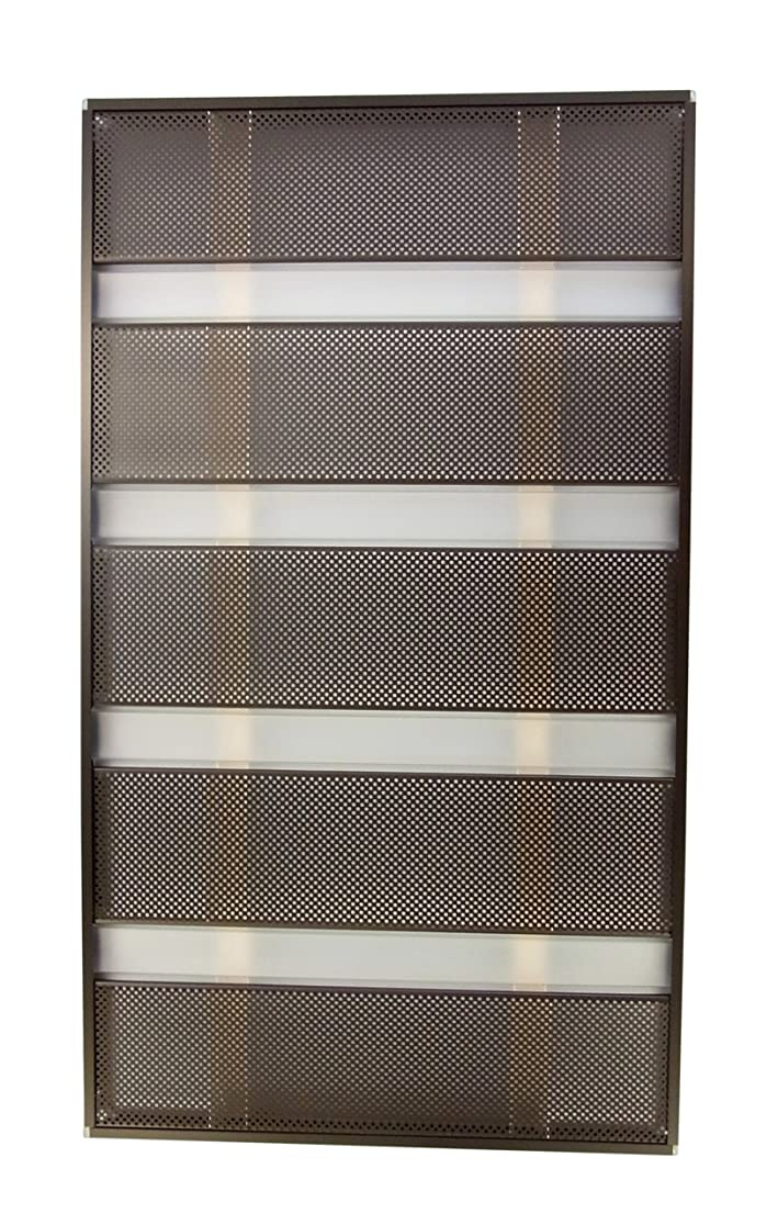 反響する今後トリップ森村金属 モリソン 窓格子の目隠し サンシャインウォール W-04 ダークブラウン 幅50.5cm 高さ88.8cm