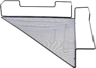 OKOMATCH Office Cubicle Corner Shelf Rack Desk Sundries Organizer/Balcony Corner Plant Caddy (Black,Iron Wire,1Pcs/Pack)