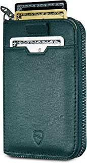 NOTTING HILL Slim Zip Wallet with RFID Protection for Cards Cash Coins (Alpine Green)