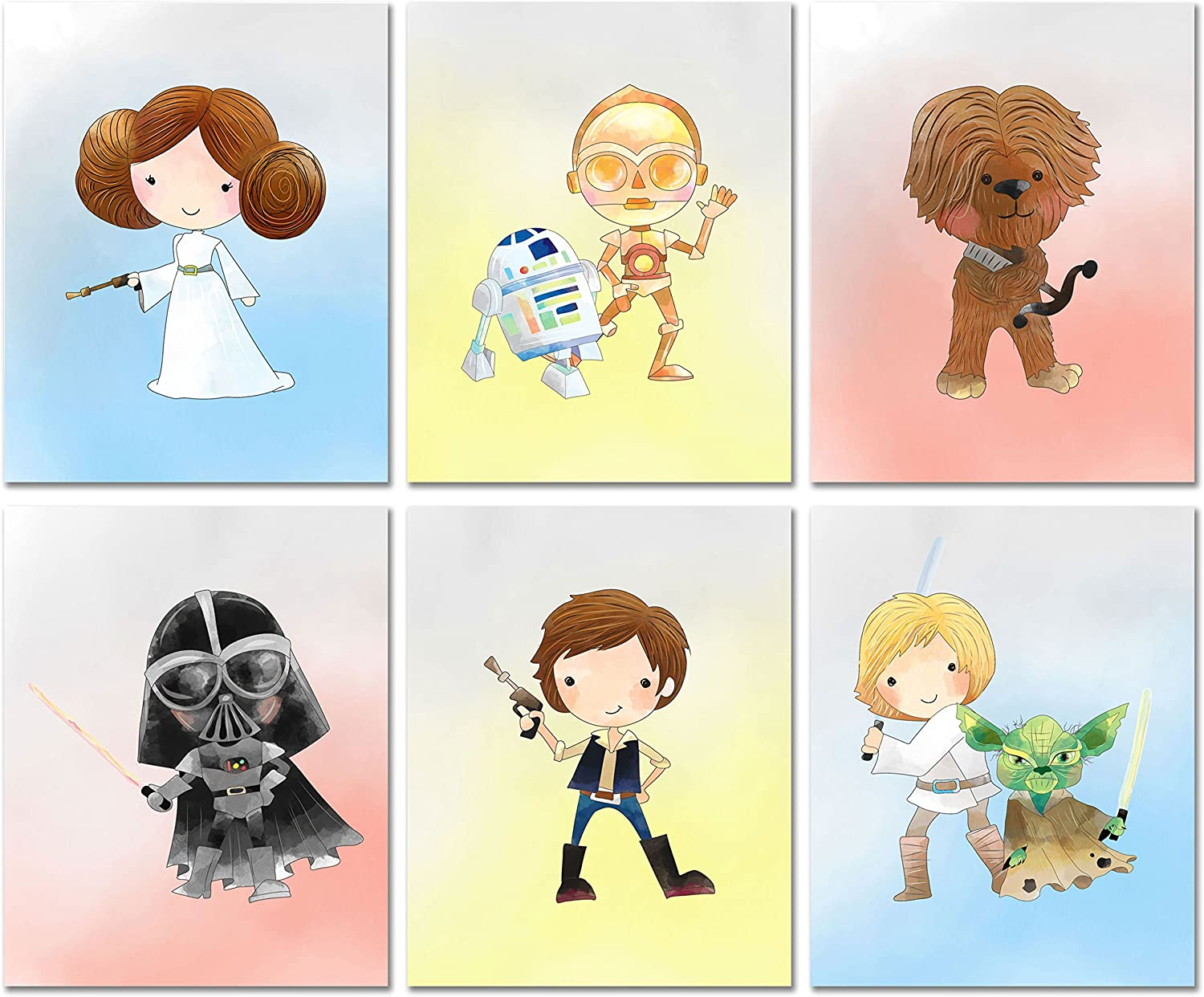 Star Wars Nursery Decor Prints New Orleans Mall - Set Quantity limited x of 8 10 inches 6