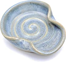 Teaspoon Rest, MINI Ceramic Spoon Rest in Opal Blue