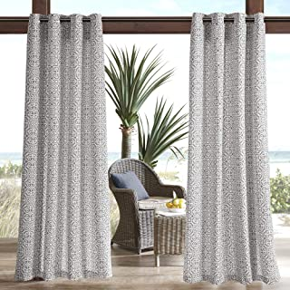 Madison Park Grommet Inspired Fabric Grey Window Bedroom Family, Aptos Global Modern Opaque Living Room Curtains, 50x95, 1-Panel Pack, 54