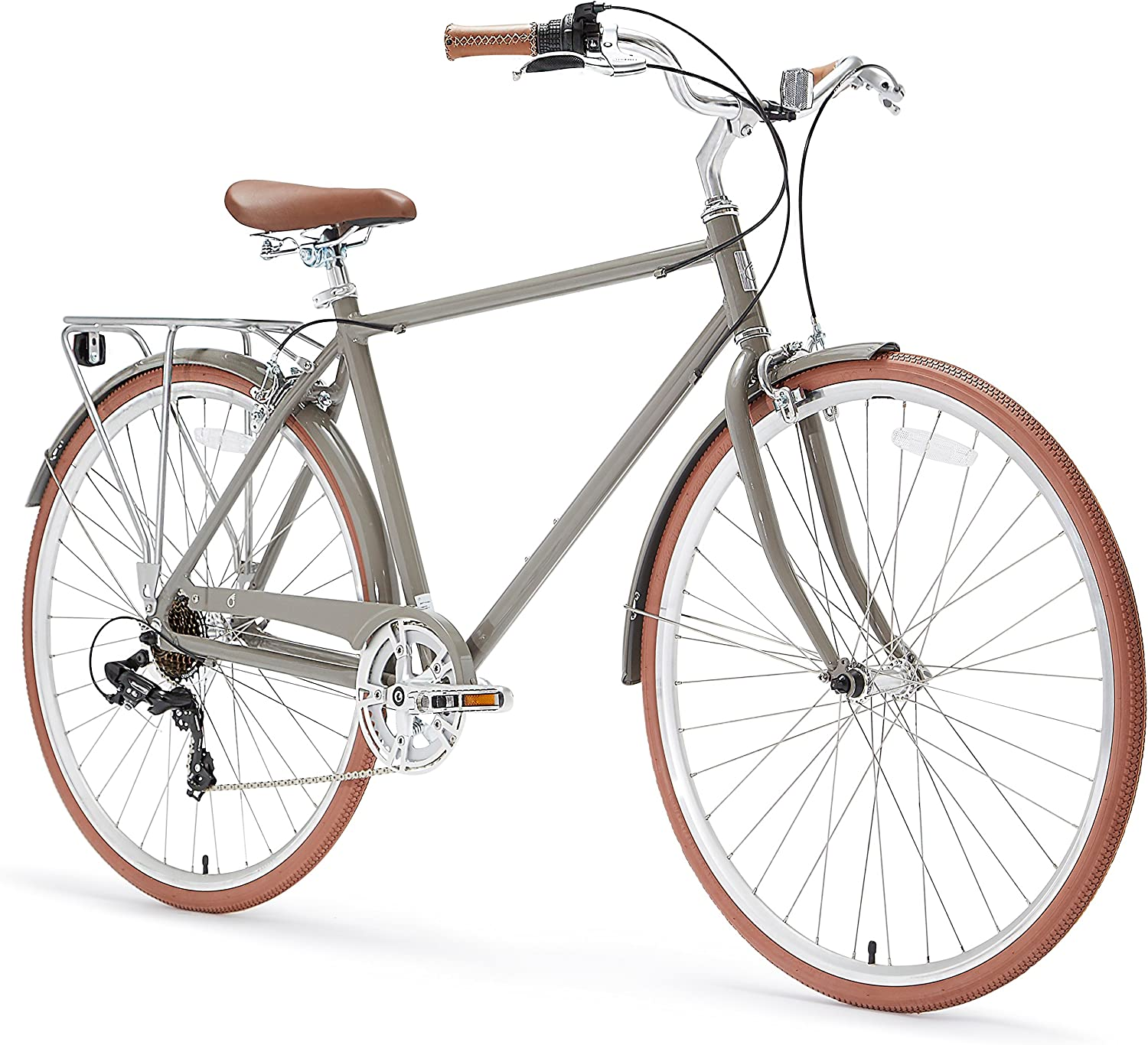Sixthreezero 630051 Ride in The Park Men's 7Speed City Bicycle, 20  One Size Frame 700C Wheels, Grey