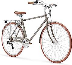 "sixthreezero Ride in the Park Men's 7-Speed City Road Bicycle, Grey, 18"" Frame/700x32c Wheels"