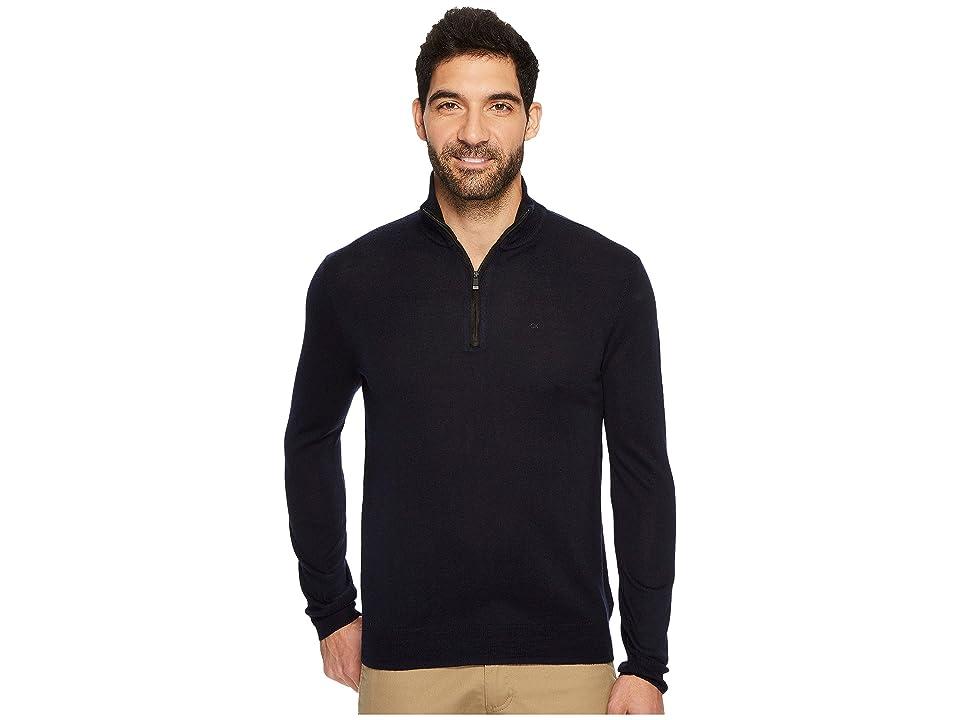 Calvin Klein Merino End on End 1/4 Zip Sweater (Roma) Men