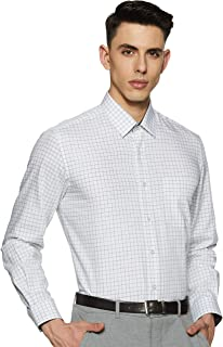 Louis Philippe Men's Checkered Slim fit Formal Shirt
