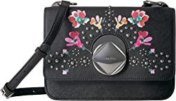 Calvin Klein - Reese Floral Printed Saffiano Structured Flap Crossbody