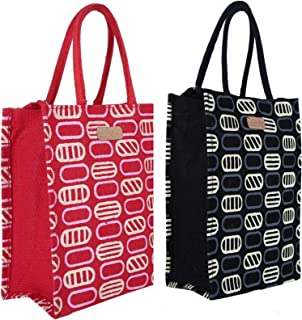 ECOTARA Handbag (Set of 2) (STAA00069_Black & Red)