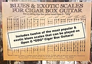 C. B. Gitty Blues & Exotic Scales Poster for 3-String Cigar Box Guitars for Open G GDG Tuning