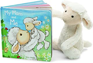 Jellycat My Mom and Me Board Book and Bashful Lamb, Medium - 12 inches