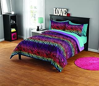 Pop Shop Rainbow Zebra Comforter Set