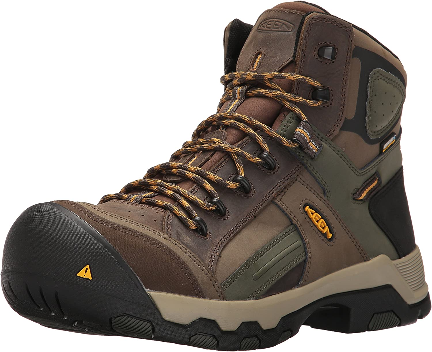 Keen Utility Men's Davenport Mid All Leather WP Industrial and Construction schuhe, Shitake Forest Night, 9 D US