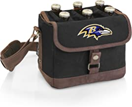 PICNIC TIME NFL Baltimore Ravens 6-Bottle Insulated Beer Caddy with Integrated Bottle Opener