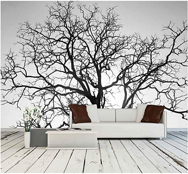 Wall26 Dead Tree Branch Black And White Removable Wall Mural Self Adhesive Large Wallpaper 100x144 Inches