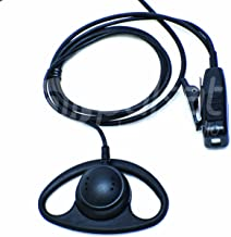 Pulsat D Shape Earpiece for Motorola CP200 BPR40 RMU2040 CLS1110 CLS1410 CP110 RDU2020 RDU2080D RDU4100 CP185 VL50 Radios EH20 Series