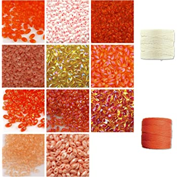 10g Miyuki Long Magatama 4x7mm Seed Beads Matte Transparent Light Peach