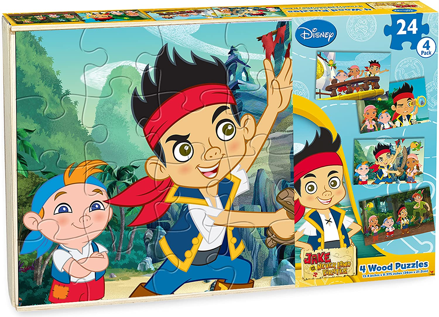 Cardinal Industries Jake Wood Puzzle (4Pack Box Puzzle)