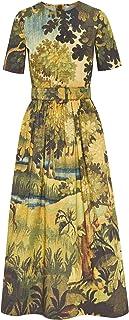 Oscar de la Renta Landscape Midi Day Dress