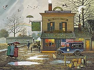 Buffalo Games - Charles Wysocki - Dampy Donuts on a Dreary Day - 1000 Piece Jigsaw Puzzle