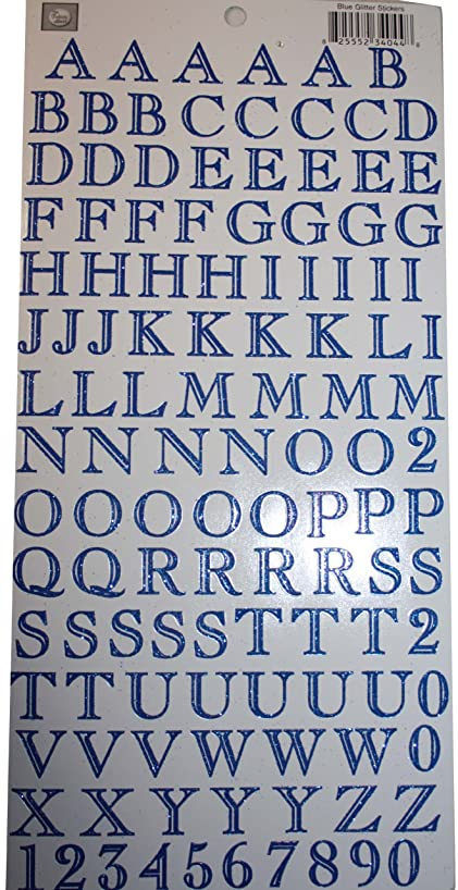ROBINS NEST The Glitter Blue Letters Scrapbook Accessory