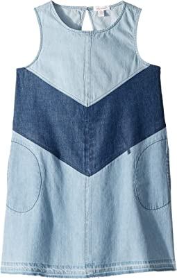 3 Tiered Denim Dress (Big Kids)