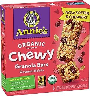 Annie's Organic Chewy Granola Bars, Oatmeal Raisin, 5.34 oz, 6 ct