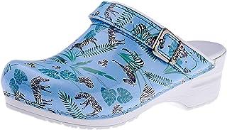Sanita | Animal Zebra | Open Clog | Original Handmade for Women | Anatomically Shaped Footbed in Soft Foam | Heel Strap