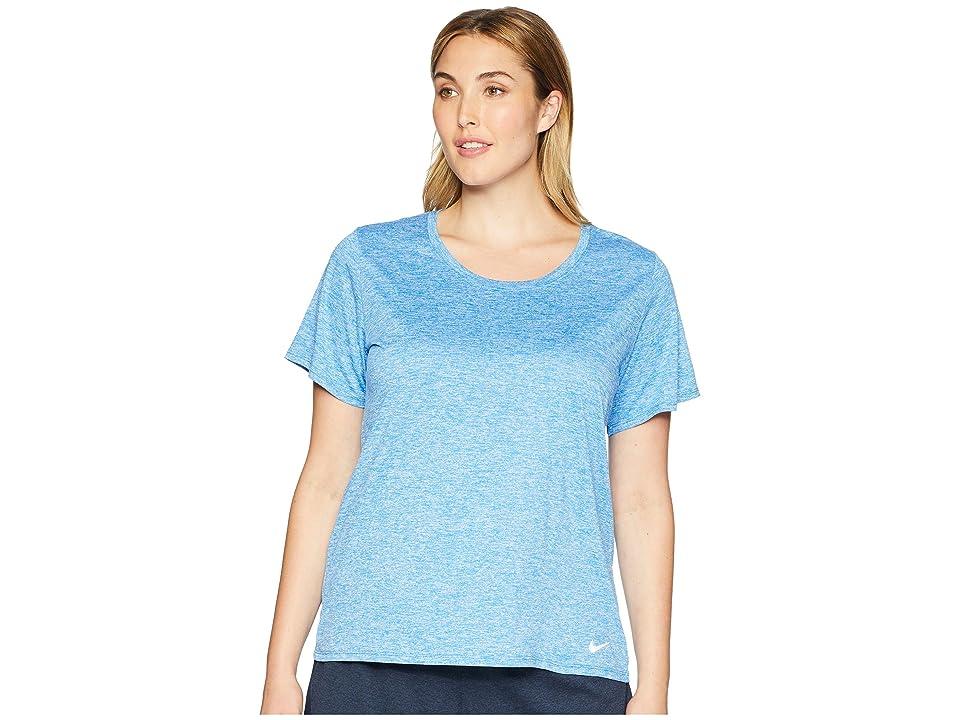Nike Dry Training Top (Size 1X-3X) (Signal Blue/Cobalt Tint/Cobalt Tint) Women