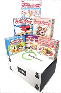 6 Boxes Bundle Kracie Popin' Cookin' DIY Gummy Candy Making Kit Tanoshii Cakes, Sushi and Donuts,Tanoshii Bento, Ramen and Waffle in Fusion Select Gift Box