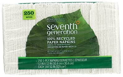 Seventh Generation 100% Recycled White Paper Napkins, 250 ct
