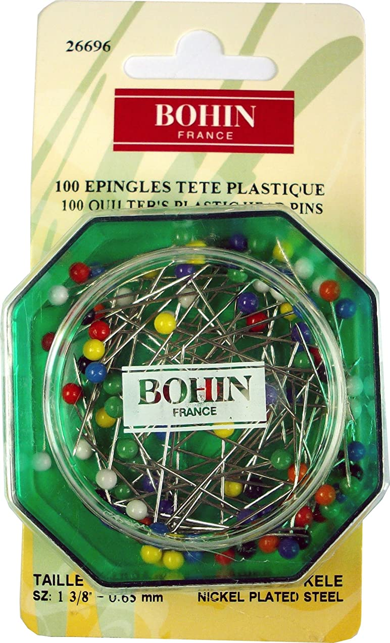 Bohin Color Ball Head Extra Long Pin Size 20-1 1/4in 100ct