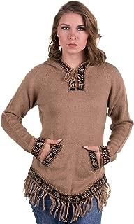 Alpaca Hooded Sweater for Women - Stylish Alpaca Hoodie -...