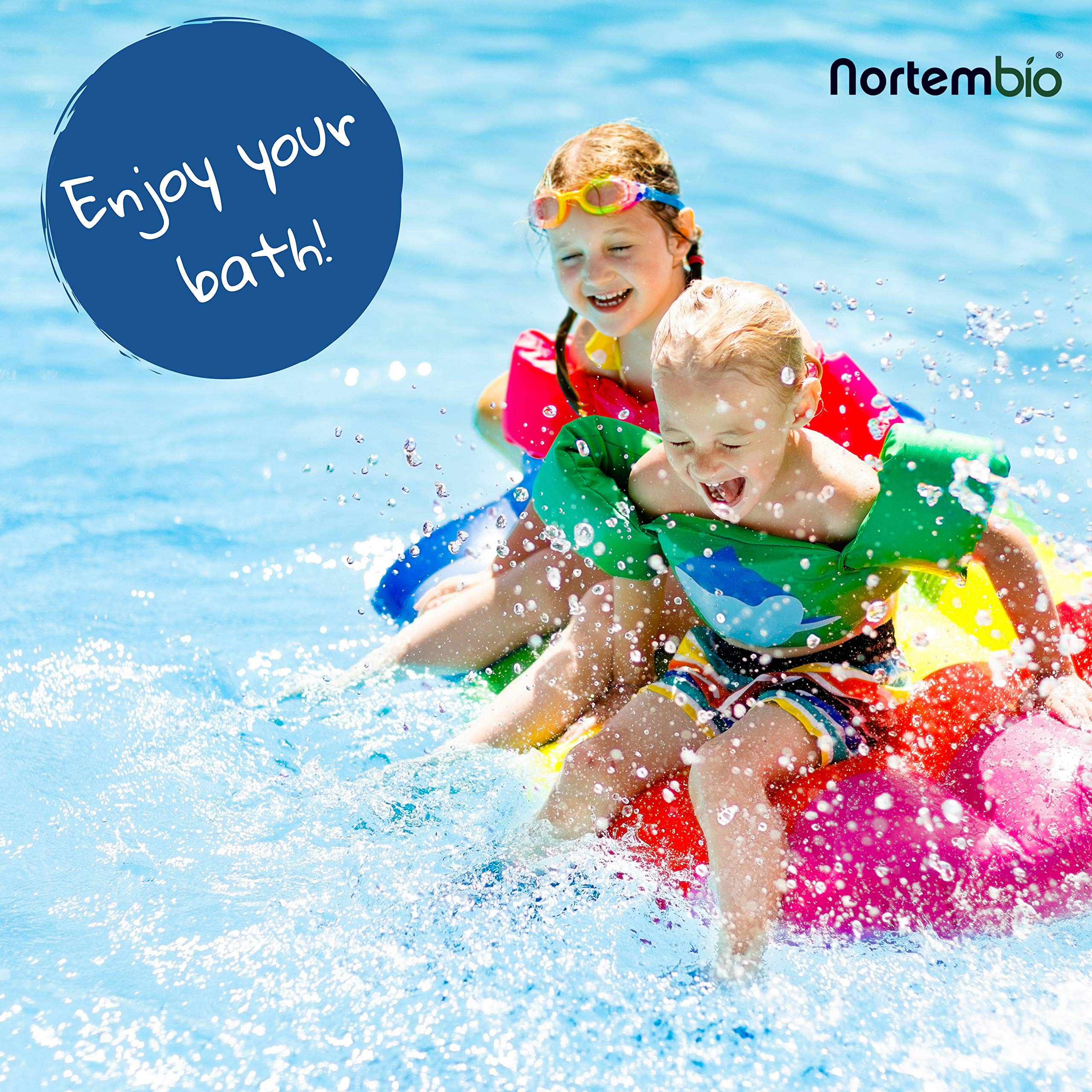 NortemBio Pool pH+ Plus 1,4 kg, Elevador Natural pH+ para Piscina ...