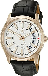 Lucien Piccard Men's LP-40025-RG-02S Del Campo Analog Display Quartz Black Watch