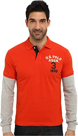 Long Sleeve Slim Fit Polo and Thermal Hang Down